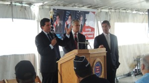 Mark Grisanti (R-Buffalo) with Senators Dean Skelos (R-Nassau) and Jeff Klein (D-Bronx)
