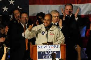 Former State Senator Antoine Thompson with former Erie County Democratic Party Chairman Len Lenihan during the 2008 presidential election.