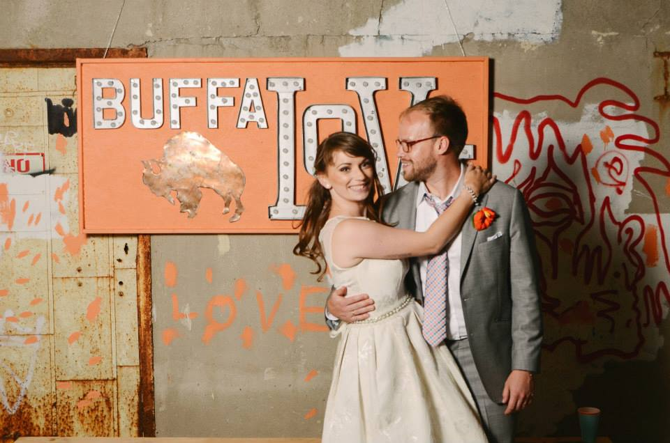 Preservation power couple Jason Wilson and Bernice Radle, newly married, and co-founders of Buffalove Development.