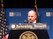 "Senator Tim Kennedy (D-South Buffalo) at the announcement of Roswell's ""Core Grant Announcement"" earlier this week."