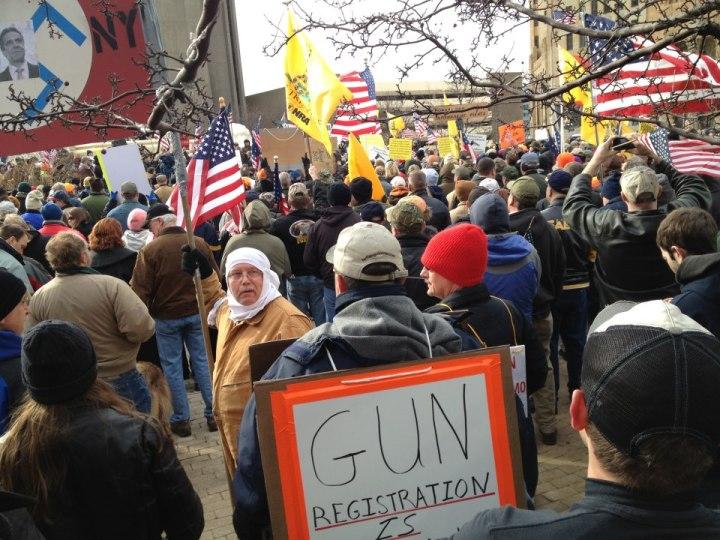 A Niagara Square second amendment rally organized by Carl Paladino and Rus Thompson.