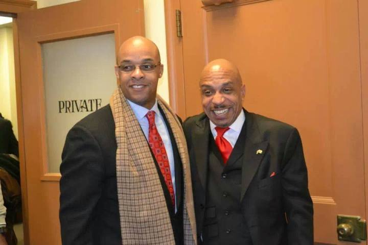 """Antoine Thompson with Rev. Darius Pridgen, who is currently serving as President of the Buffalo Common Council. Pridgen is rumored to be """"next in line"""" to become Mayor, some have speculated. Both men are close to the current Mayor, Byron Brown."""