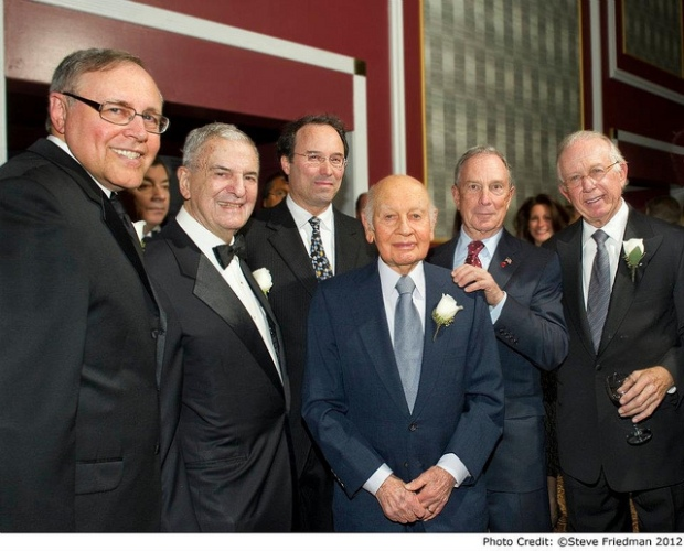 Real estate mogul Leonard Litwin with former Mayor Michael Bloomberg.