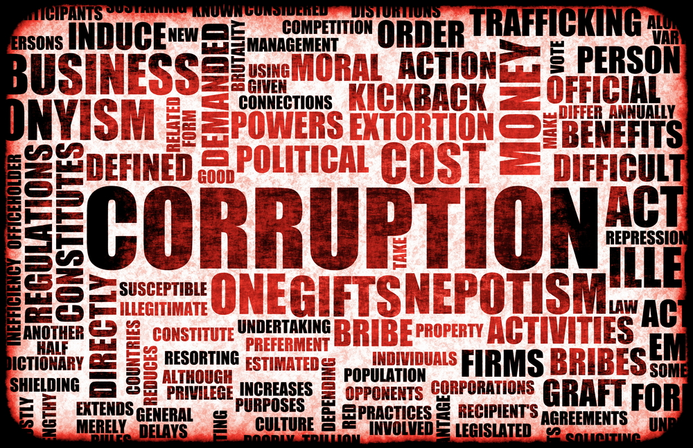 bribery and corruption in the public Corruption is a crime committed by officials (public or private) abusing of their role to procure gain for themselves or somebody else several forms of corruption.