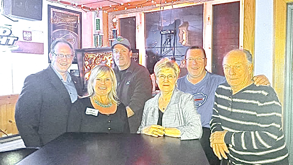 From left: Councilman James Rogowski, Councilwoman Diane Benczkowski, Chairman Mark Wegner, Clerk Alice Magierski, Tim Meyers, and former Councilman Gary Kaminsky.
