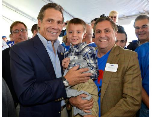G. Steven Pigeon with Governor Andrew Cuomo, a personal friend.